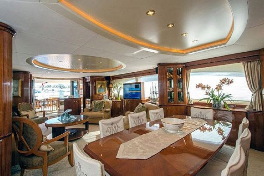 101' Azimut Newport Beach Luxury Yacht Main Salon