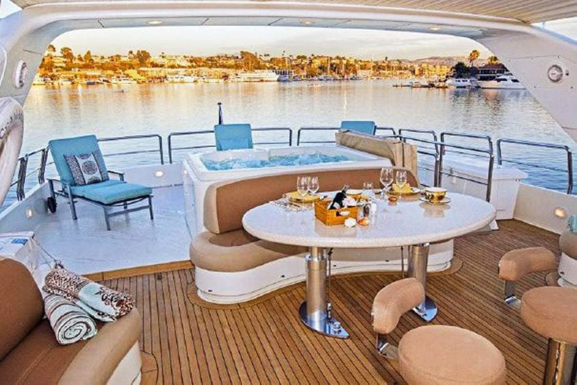 101' Azimut Newport Beach Luxury Yacht Upper Deck Hot Tub