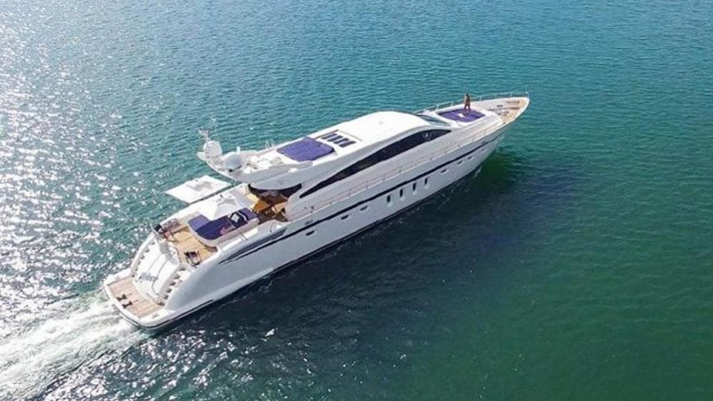 106' Leopard Miami Beach Charter Yacht Stbd Side