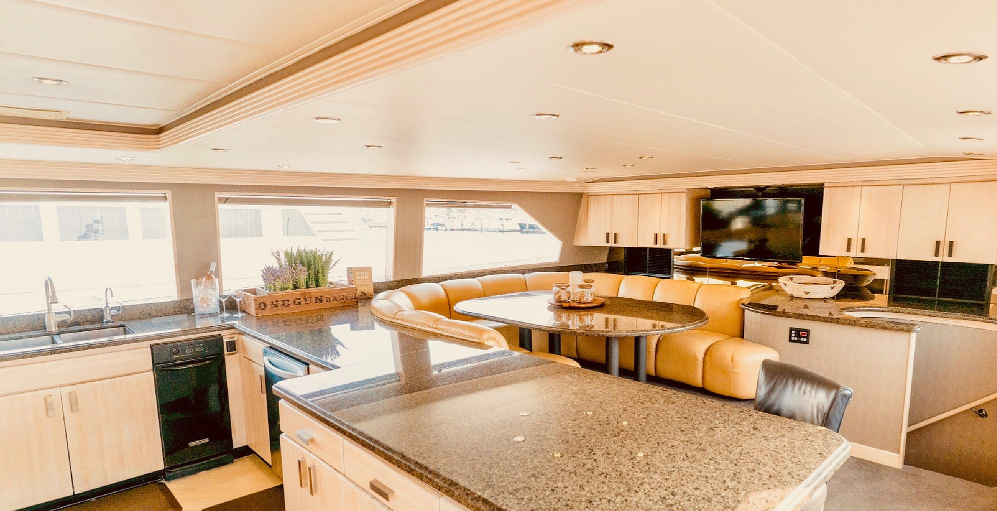 106' Westship Private Yacht Charters Galley