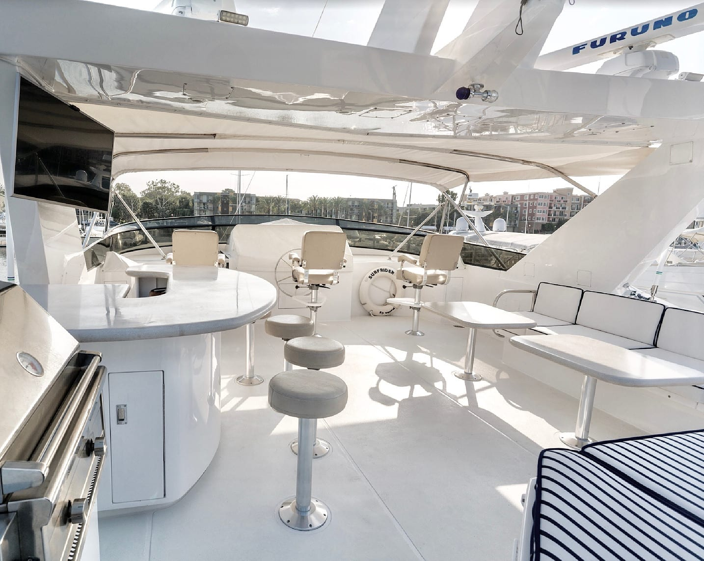 106' Westship Private Yacht Charters Upper Deck