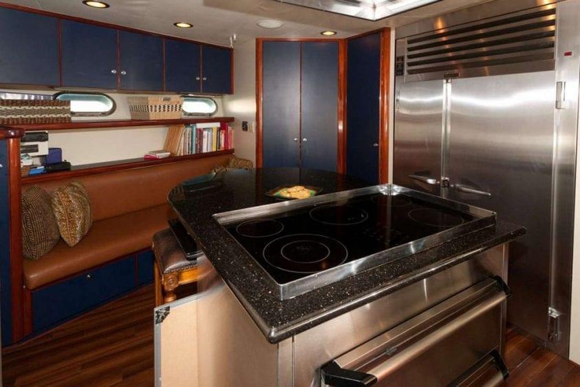 108' Monte Fino Marina del Rey Yacht Rental Chefs Galley 2