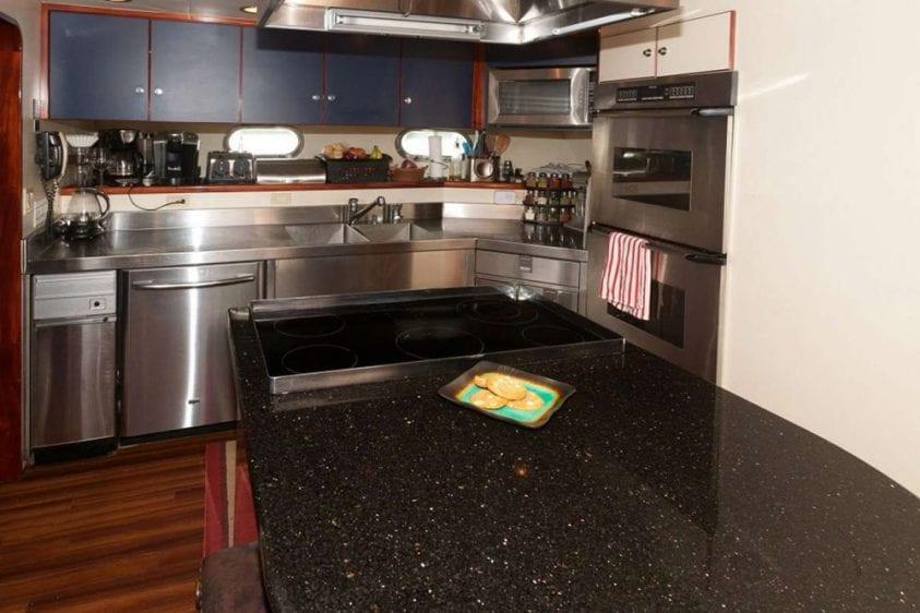 108' Monte Fino Marina del Rey Yacht Rental Chefs Galley