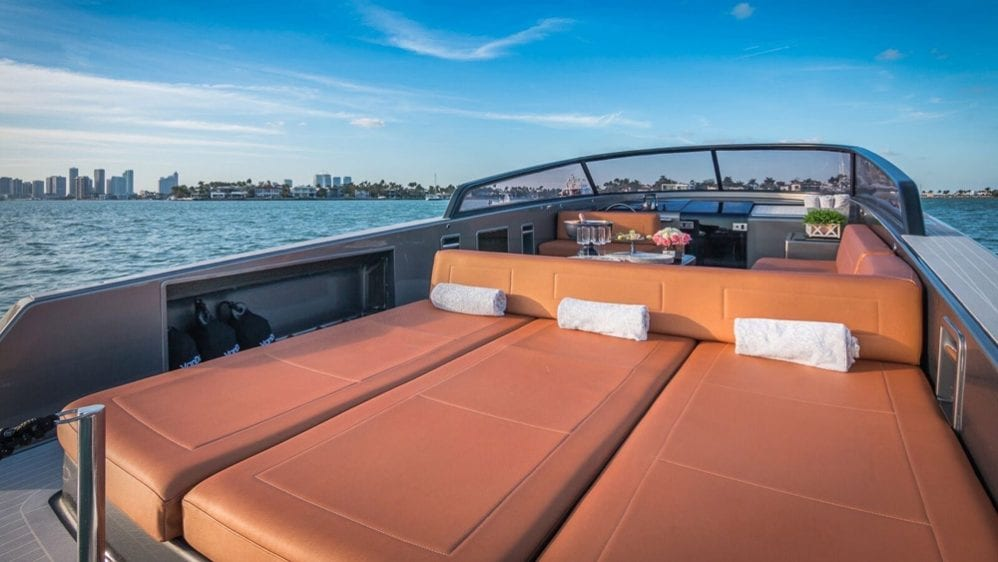 40' VanDutch North Miami Yacht Rental Aft Layout Pads