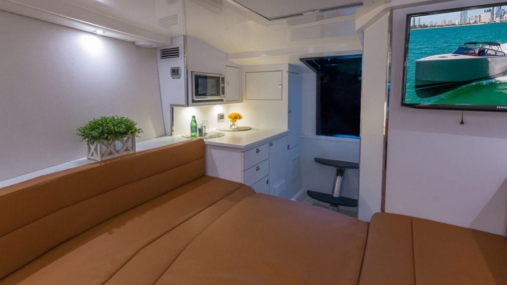 40' VanDutch North Miami Yacht Rental Interior