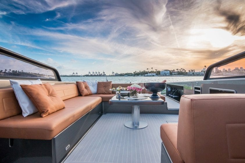 40' VanDutch North Miami Yacht Rental Lounge