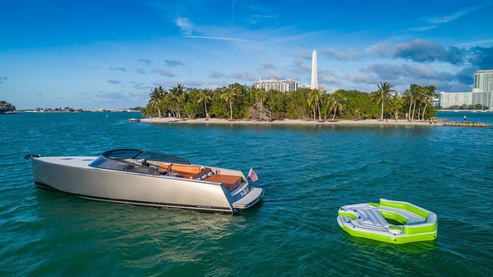 40' VanDutch North Miami Yacht Rental Water Toys
