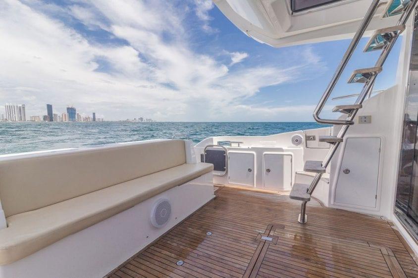 42' Azimut North Miami Yacht Rentals Aft Deck 2