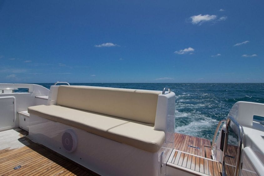 42' Azimut North Miami Yacht Rentals Aft Deck Seating
