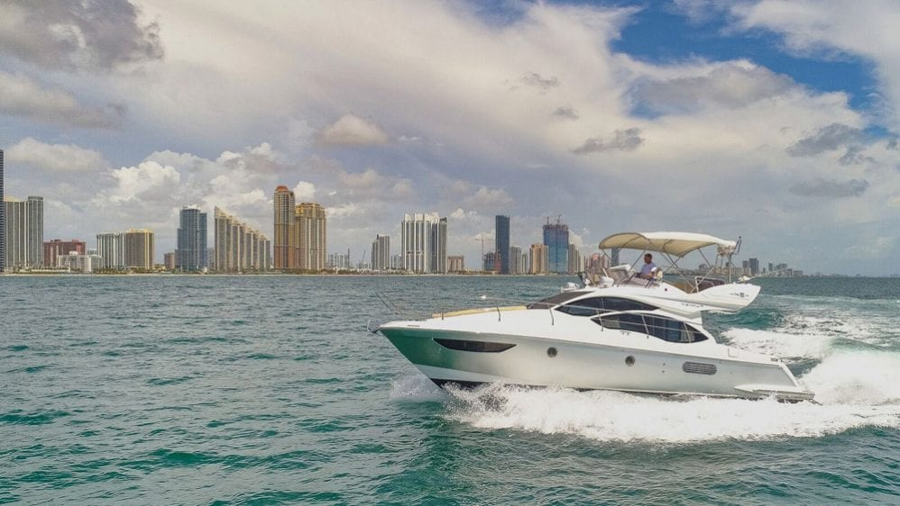 42' Azimut North Miami Yacht Rentals Port Side