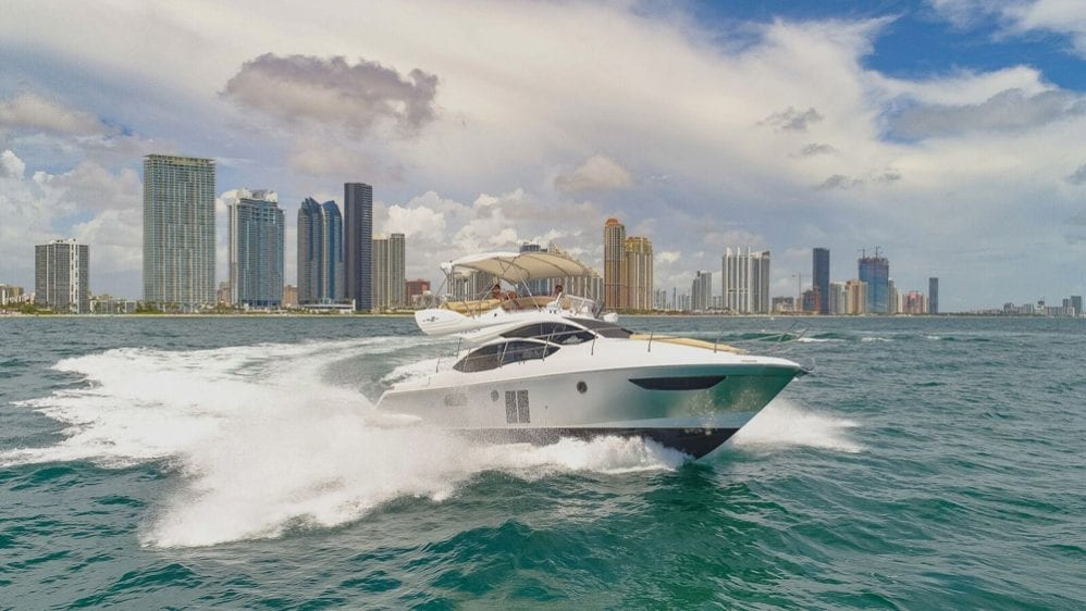 42' Azimut North Miami Yacht Rentals Starboard Side