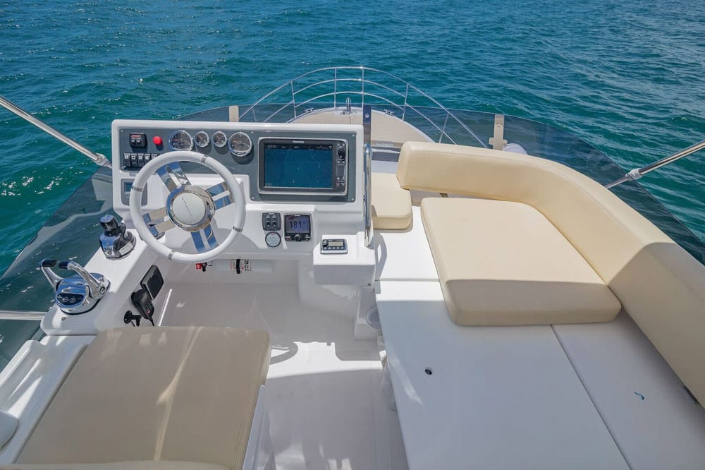 42' Azimut North Miami Yacht Rentals Upper Helm