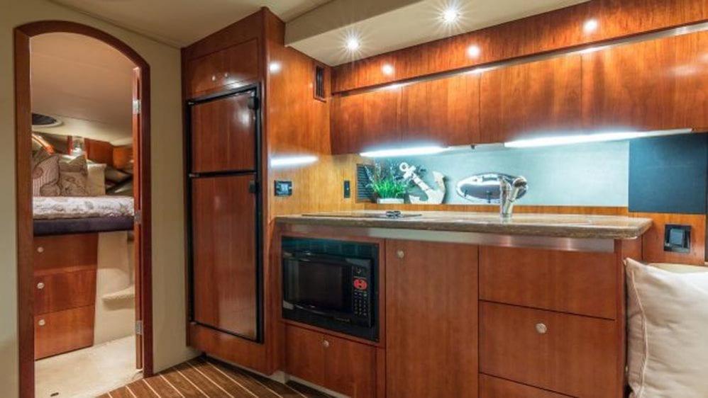 43' Cruiser Yacht Rental Miami Beach Galley