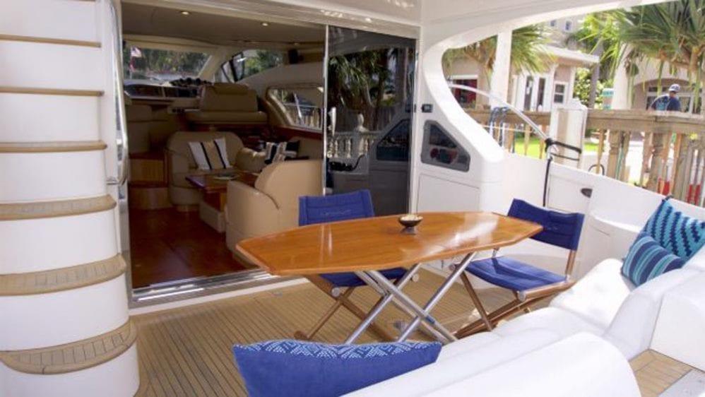 50' Azimut Flybridge Miami YachtCharters Aft Deck