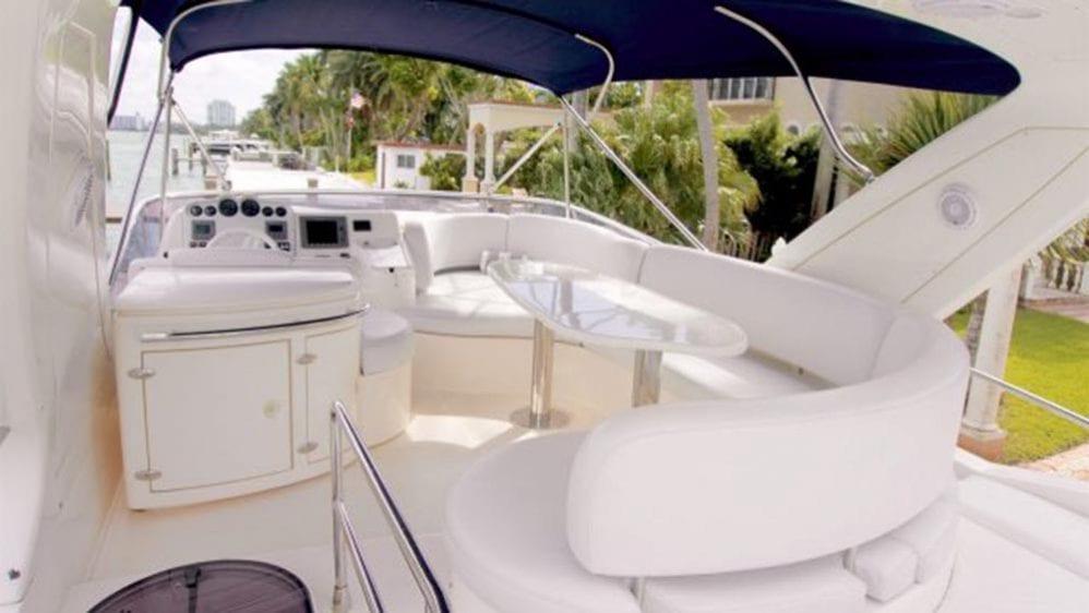 50' Azimut Flybridge Miami YachtCharters Flybridge