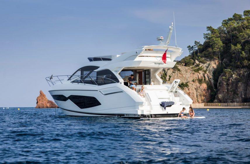 Newport Beach Luxury Yacht 52' Sunseeker Stern