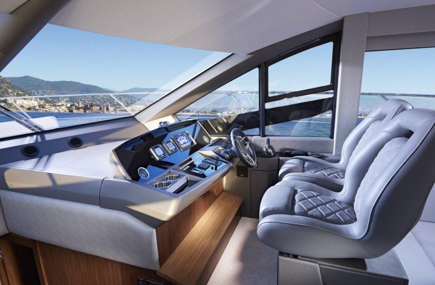 Newport Beach Luxury Yacht 52' Sunseeker Helm