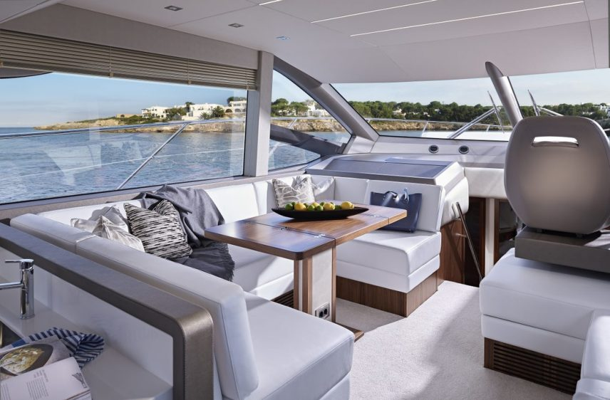 Newport Beach Luxury Yacht 52' Sunseeker Indoor Dining 2