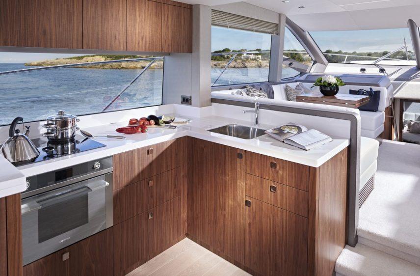 Newport Beach Luxury Yacht 52' Sunseeker Galley