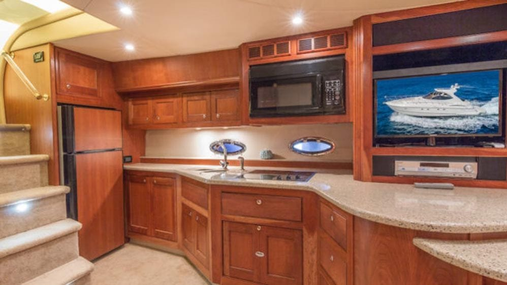 54' Cruiser Yacht Charters Miami Beach Galley