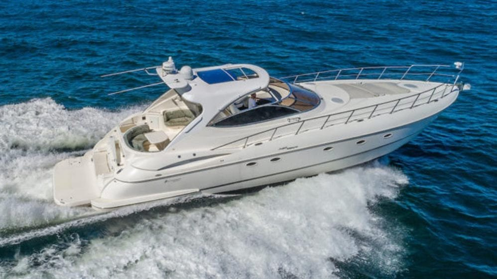 54' Cruiser Yacht Charters Miami Beach Stbd Side