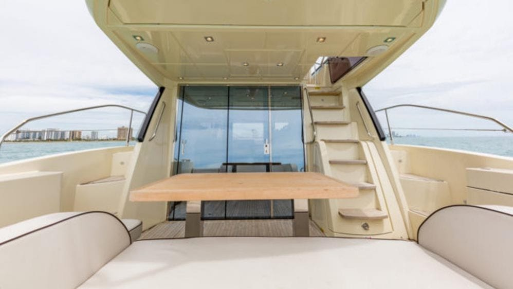 55' Monte Carlo Miami Yacht Charter Aft Deck