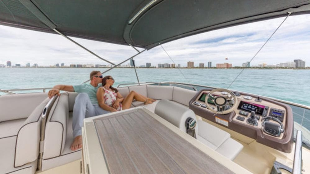 55' Monte Carlo Miami Yacht Charter Flybridge 2