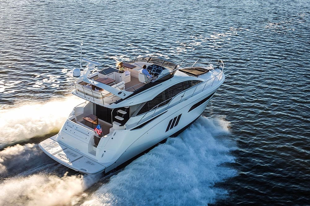 55' Sea Ray Flybridge Yacht Charter Miami Beach
