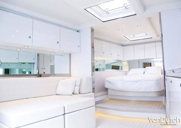Newport Beach Yacht Rentals 55' Van Dutch Salon Interior