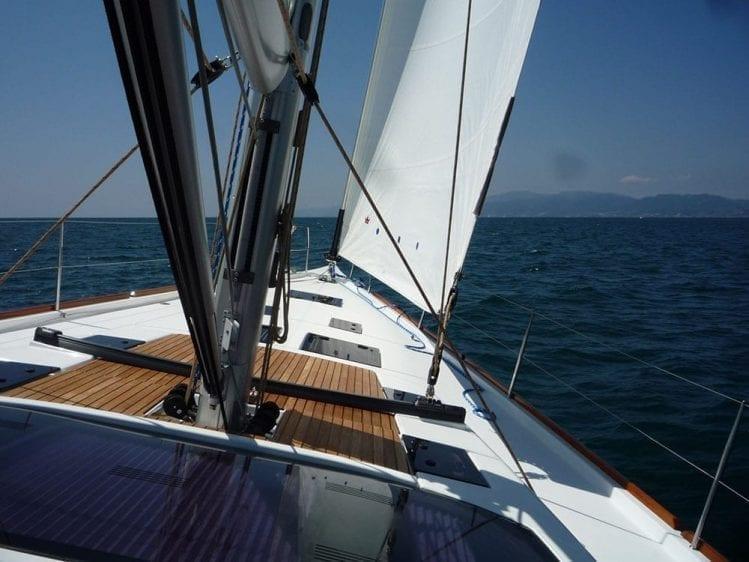 56' Dufour Under Sail