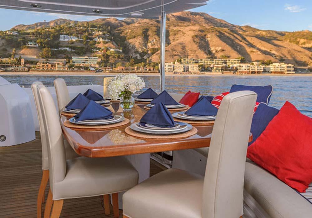Marina del Rey Yacht Rentals 82 ft yacht deck