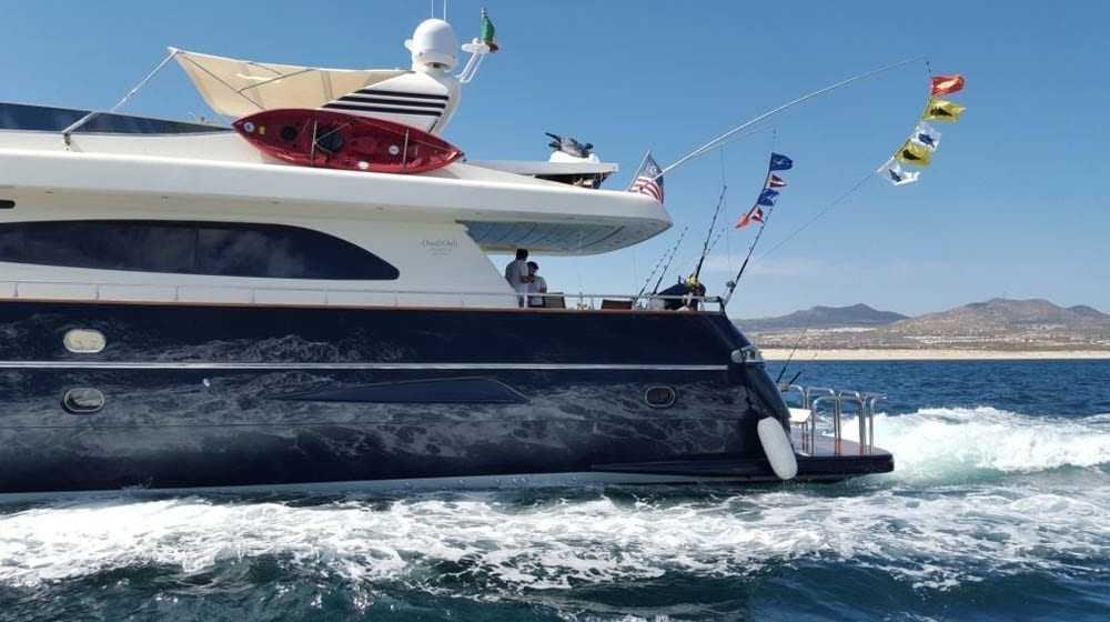 Cabo San Lucas Yacht Rental 93' Canados Port Side