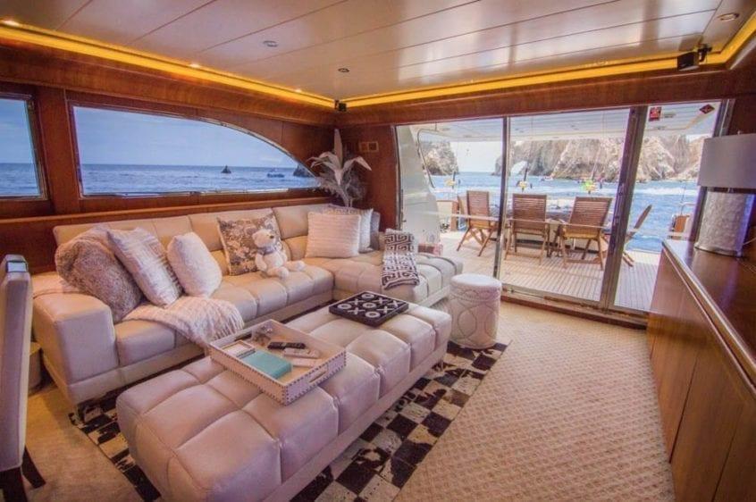 Cabo San Lucas Yacht Rental 93' Canados Salon