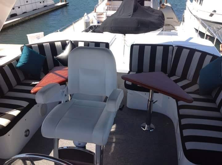 Cabo San Lucas Yacht Rentals 68' Queenship Upper Lounge