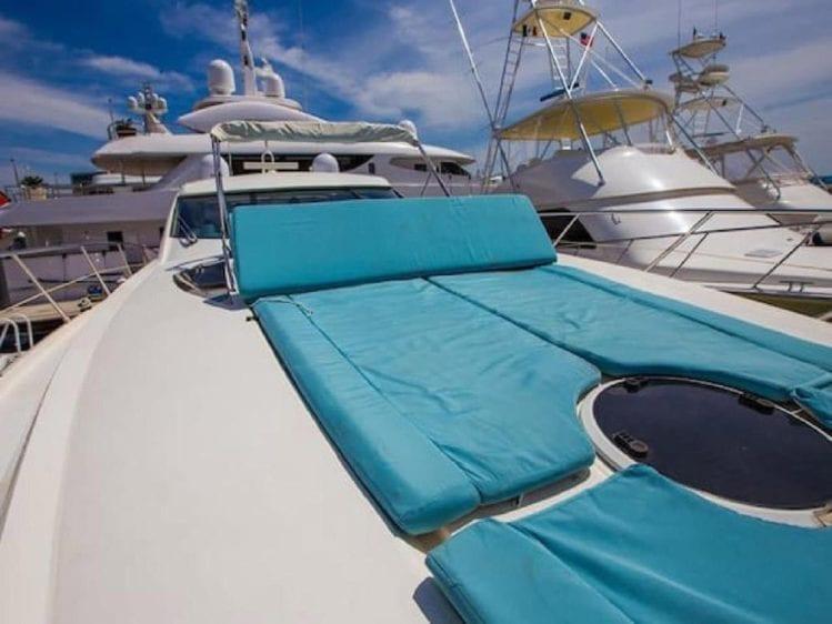 Cabo San Lucas Yacht Rentals 70' Sunseeker Bow Pads