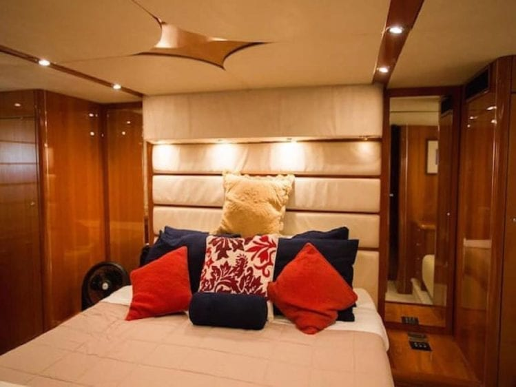 Cabo San Lucas Yacht Rentals 70' Sunseeker Master Stateroom