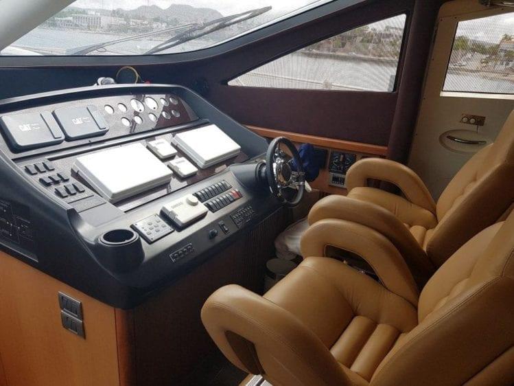 Cabo San Lucas Yacht Rentals 74' Sunseeker Helm Station