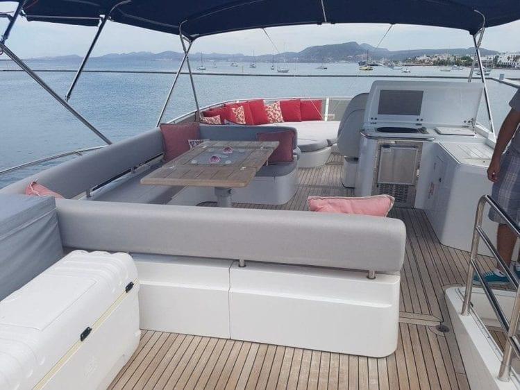 Cabo San Lucas Yacht Rentals 74' Sunseeker Upper Deck