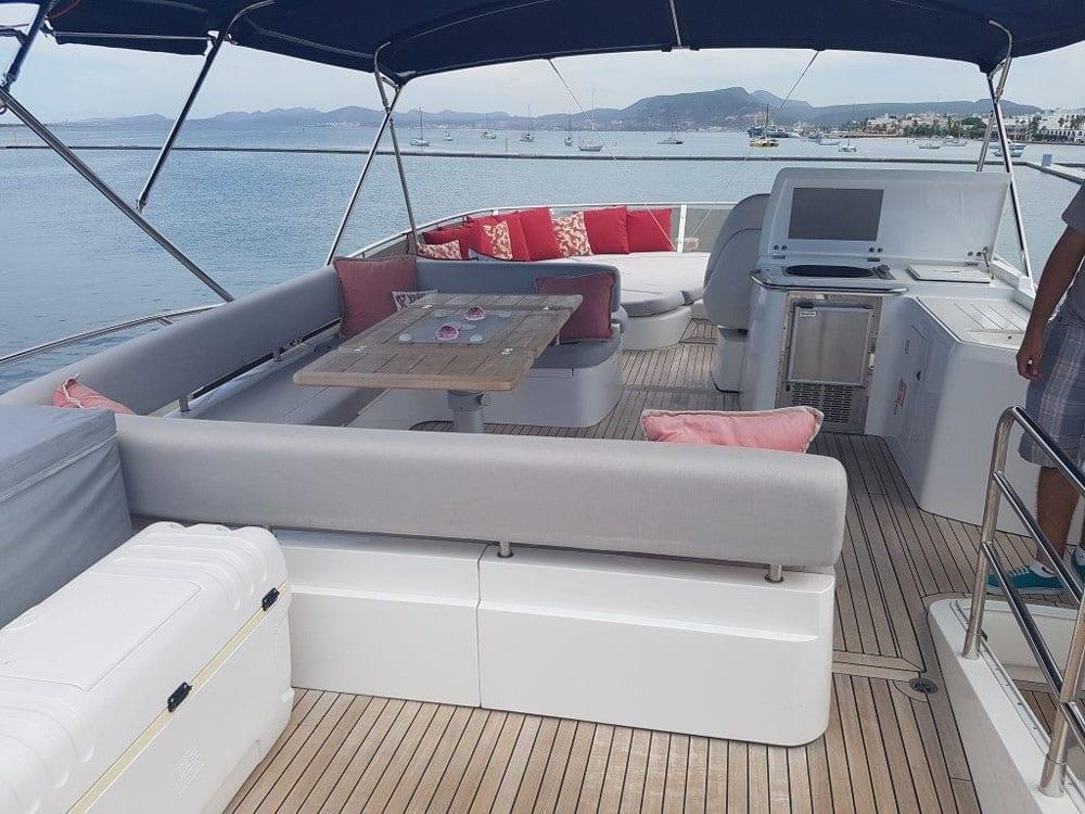 Cabo Yacht Charter 74' Sunseeker Upper Deck