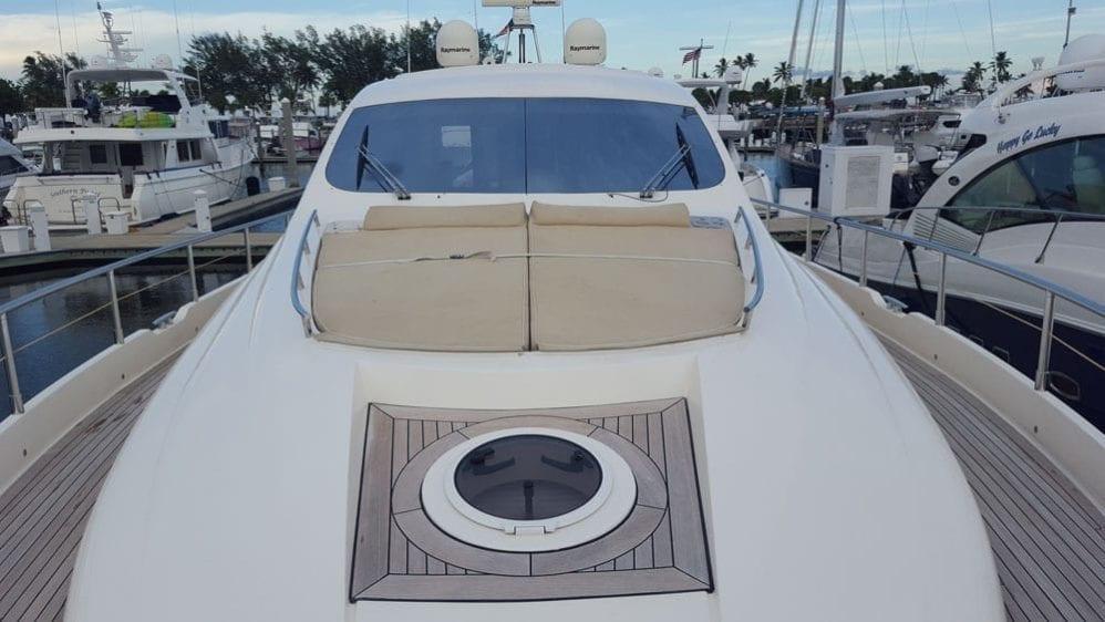 Cabo San Lucas Yacht Rentals 77' Aicon Bow Lounge