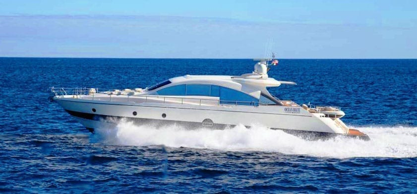 Cabo San Lucas Yacht Rentals 77' Aicon Port Profile