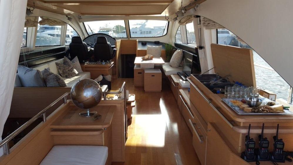 Cabo San Lucas Yacht Rentals 77' Aicon Salon