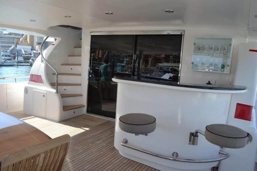 Cabo San Lucas Yacht Rentals 92' Horizon Aft Deck