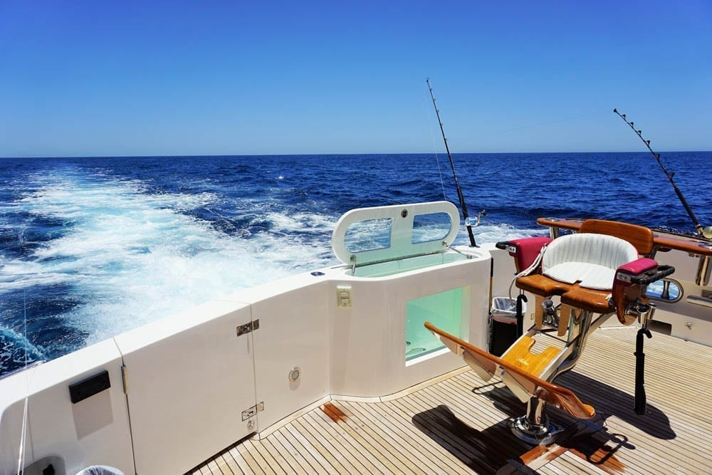 Cabo luxury Yacht Rentals 92' Horizon Aft Deck Fishing
