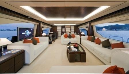 Cabo San Lucas Yacht Rentals 95' Azimut Salon