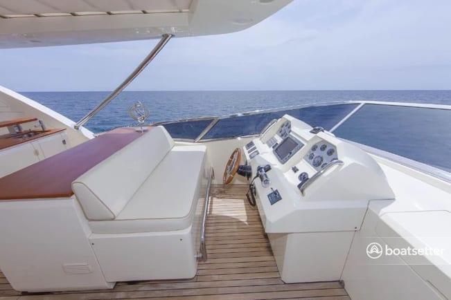 Cabo San Lucas Yacht Rentals 95' Azimut Upper Helm
