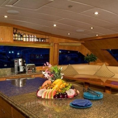 Ft. Lauderdale Yacht Rentals 114' Hargrave Galley Dining