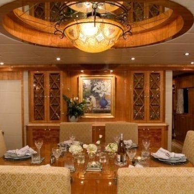 Ft. Lauderdale Yacht Rentals 114' Hargrave Salon Dining