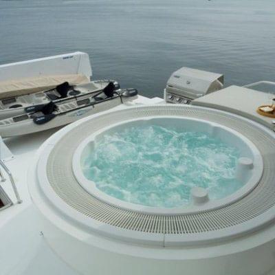 Ft. Lauderdale Yacht Rentals 114' Hargrave Upper Deck Hot Tub