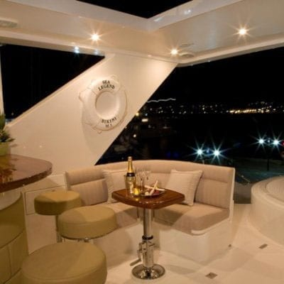 Ft. Lauderdale Yacht Rentals 114' Hargrave Upper Deck Seating